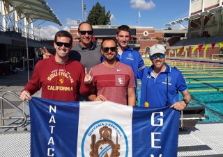 Andrés Etchart, el Lic. Eric Gandolfo y el excelente Cuerpo Técnico de la USC integrado por Dave Salo, Patrick McCloskey y Jordan Schrotenboer. (2)